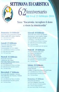62° Settimana eucaristica 2016