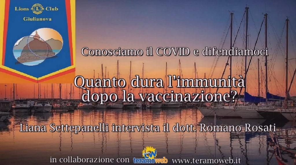 Conosciamo il COVID e difendiamoci – Domanda 6/15 – Quanto dura l'immunità dopo la vaccinazione?